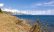 Stratificazioni rocciose che rappresentano il flysch del Cilento a Punta Licosa