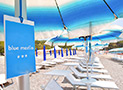 Il servizio spiaggia presso il Lido Lentiscelle Club Morrocoy