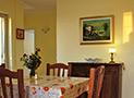 La cucina/sala da pranzo dell'appartamento Belvedere