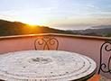 Il terrazzo con splendida vista mare dell'appartamento Belvedere
