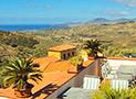 Il terrazzo con vista su Velia e il mare