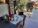 La veranda attrezzata dell'appartamento
