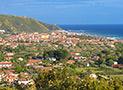 eduta panoramica di Ascea Marina dalla torre di Velia