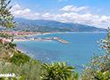 Il mare di Marina di Casal Velino visto dalla villa