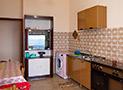 La cucina dell'appartamento Riviera di Ponente