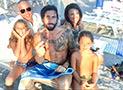 Vittorio Brumotti di Striscia La Notizia al Lido del Blue Marlin Vacanze a Marina di Camerota