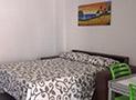Il divano letto in cucina dell'appartamento Bora