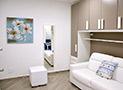 Il divano letto dell'appartamento Maestrale