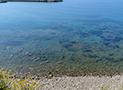 La spiaggia in ciottoli