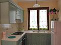 Vista della cucina attrezzata