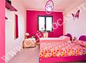 La camera da letto matrimoniale dell'appartamento 5 posti
