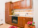 La cucina attrezzata dell'appartamento