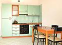 La cucina degli appartamenti